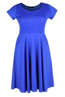 Koko Blue Basic Skater Dress